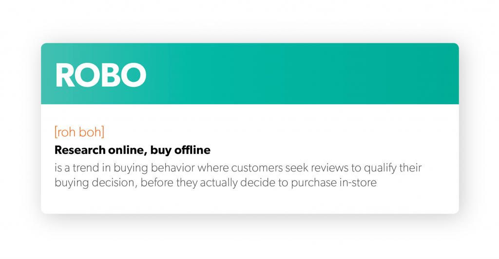 ROBO definition online customer reviews influence offline purchases