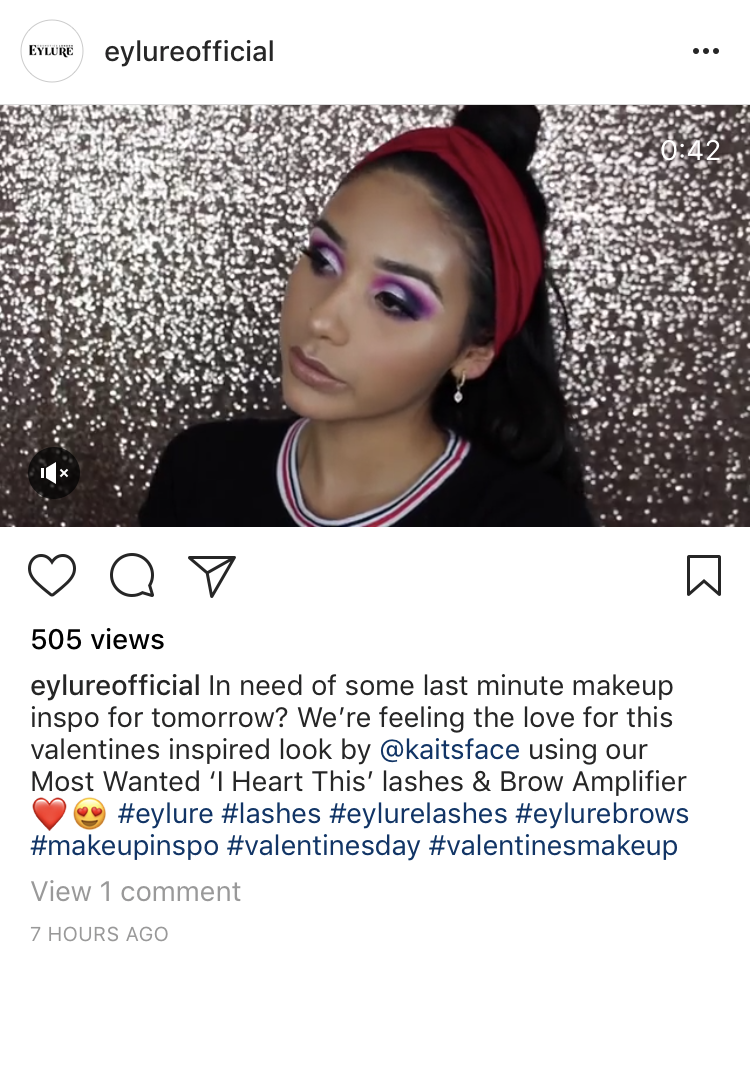 eylure valentines day holiday social media campaign